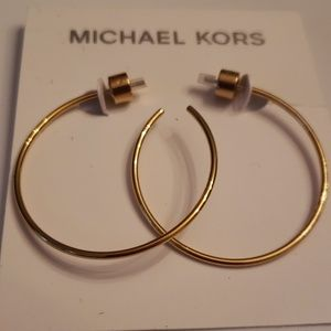 Michael Kors Nwt Gold Hoop Earrings